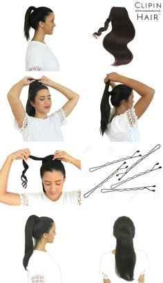 Ever wondered how those girls get their ponytails to look so cute? It's called Bobby Pins, ladies... and Ponytail Extensions of course :)  Shop now to get your AAA grade human hair extensions now.