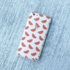 "Clear Plastic Case Cover for iPhone 6 (4.7"") Henna Watermelon Pandemonium"