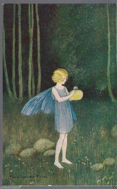 Vintage Ida Rentoul Outhwaite postcard -Elves and Fairies Series No 71a