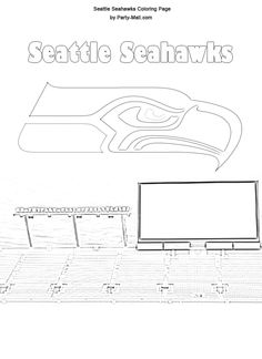 Free Seattle Seahawks Coloring page; Have kids color and add to PL album