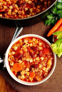 Crockpot Healthy Soup E Fagioli Soup like Olive Garden | The Kel Crew