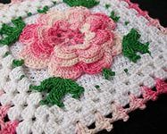 floral crochet flowers — Yandex.Images – 62 free crochet patterns flowers granny squares crochetsweaters.
