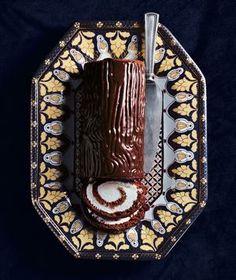 Bûche de Noël (French for Yule Log) recipe—the ultimate chocolate Christmas dessert.