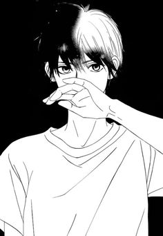 Mostly shoujo mangacap but also shounen and more. Monochrome and colored. Before asking me anything, read the faqs thanks! Cute Anime Boy, Cute Anime Couples, I Love Anime, Anime Guys, Manga Anime, Manga Boy, Kimi Ni Todoke, Miraculous, Black And White Cartoon