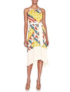 Geometric Print Halter Dress | Women's Dresses | THE LIMITED