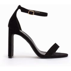 Nly Shoes Thin Block Heel Sandal ($73) ❤ liked on Polyvore featuring shoes, sandals, ankle wrap sandals, wide sandals, heeled sandals, wide shoes and colorblock sandals