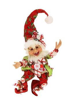 Mark Roberts 'Candy Cane' Small Elf