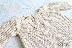 ...Leaf Pattern Set by Jeannine LaRoche, as knit by oiyi...