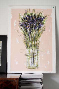 Flower art. Pupulandia | Trendi Glass Vase, Art Prints, Interior, Home Decor, Art Impressions, Decoration Home, Indoor, Room Decor, Interiors