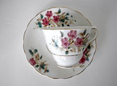 Vintage Colclough China Tea Cup and Saucer Made in by oldandnew8