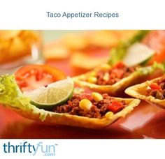 This page contains taco appetizer recipes. Try some different variations on the traditional taco to make appetizers for your next party or movie night. Taco Appetizers, Appetizer Recipes, Dinner Recipes, 21 Day Fix Diet, Mexican Food Recipes, Ethnic Recipes, Tex Mex, Original Recipe, Clean Eating Snacks