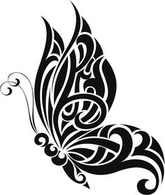 60 Awesome free butterfly tattoo designs + the meaning of butterfly tattoos. Designs include: feminine, tribal and lower back butterfly tattoos. Tribal Butterfly Tattoo, Butterfly Tattoo Designs, Butterfly Design, Butterfly Stencil, Rose Tattoo Stencil, Swirl Tattoo, Butterfly Outline, Butterfly Quilt, Blue Tattoo