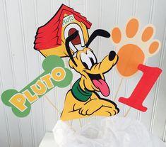 5 Piece Pluto Centerpiece Pluto Birthday by LuluBellaCreations Homemade Dog Toys, Diy Dog Toys, Birthday Cake Toppers, Cake Birthday, 5th Birthday, Birthday Ideas, Dog Heaven Quotes, Dog Logo Design, Funny Dog Faces