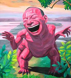 I am Dragon – 2, 2008, oil on canvas, 220 x 200 cm