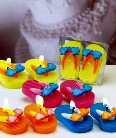 Flip flop candle wedding favors