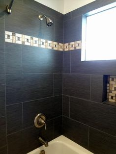 Contemporary 3 4 Bathroom With Ms International Metro Gris