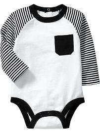 Color-Block Jersey Bodysuits for Baby