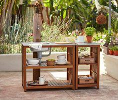 Stół ogrodowy ze zlewem i blatem roboczym 327395 w Tchibo