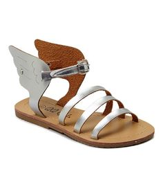 Look what I found on #zulily! Silver Sophie Sandal by QQ Girl #zulilyfinds