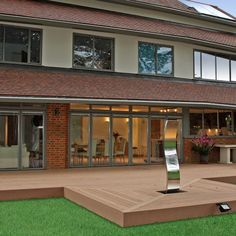 Wooden non-slip terrace #wpc #wpcdeck #deck #decking #outdoordecking #floor #outdoorflooring #deckplanking #compositedecking