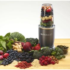 Makes yummy smoothies! I love my Nutri-Bullet! The bullet's 600W big brother can shred skins and seeds.  This superfood nutrition extractor doesn't just blend or juice your fruits and veggies, it extracts them!! Meaning you don't lose any fiber or leave huge chucks of greens in your smoothie, the nutribullet breaks down all the ingredients into one delicious drink!
