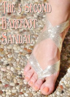 How to make barefoot sandals Depending on the venue for the wedding, me and my friends were thinking of doing these instead of shoes