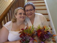 two beautiful brides marry on the hottest day of the year