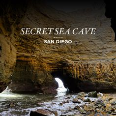 One of the few secret sea caves in San Diego.  Click through to get complete directions to this secret sea cave at Cabrillo National Monument // localadventurer.com