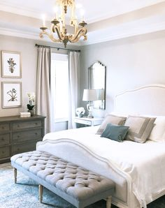 Cool French Country Master Bedroom Design Ideas With Farmhouse Style 08 Country Master Bedroom, French Country Bedrooms, French Country Living Room, Master Bedroom Design, French Country Decorating, Home Decor Bedroom, Bedroom Designs, Bedroom Furniture, Bedroom Ideas