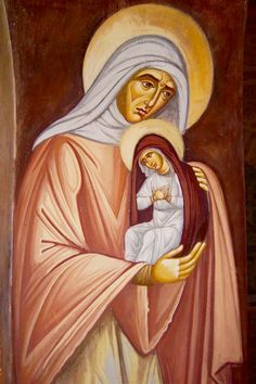 Religious Images, Religious Art, Santa Ana, St Anne, Orthodox Icons, Christianity, Catholic, Disney Characters, Fictional Characters