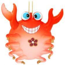 Crab Glass Ornament $7.98