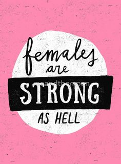 Females Are Strong As Hell | Pink | Canvas Print