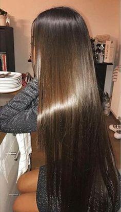 Pretty Hairstyles, Straight Hairstyles, Baddie Hairstyles, Beautiful Long Hair, Gorgeous Hair, Long Dark Hair, Silk Hair, Aesthetic Hair, Brown Blonde Hair