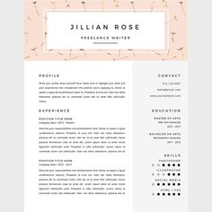 White And Beige Resume Template  Templates Resume And Boutiques