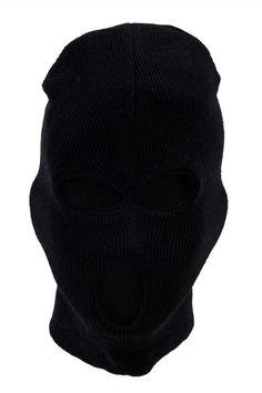 Mannelijke Zwarte Acryl Militaire Drie Gaten Bivakmuts Helm Maskers Outdoor Fietsen