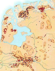 kaart van de bewoonde wereld rond 950