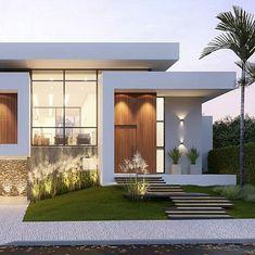 87 most popular modern dream house exterior design ideas 16 Contemporary House Plans, Modern House Plans, Modern Contemporary House, Japanese Modern House, Modern Art, Minimalist House Design, Modern House Design, Modern Exterior, Exterior Design