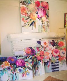 Spring has sprung in the Gallery! A new series of Erin Gregory's is finally here. Come take a piece and bring some life back into your wintry home! Erin Gregory, Abstract Flowers, Love Art, Painting Inspiration, Diy Art, Watercolor Art, Art Drawings, Art Projects, Art Photography