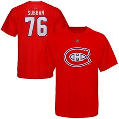 c03cdc3a45f Mens Montreal Canadiens PK Subban Reebok Red Name   Number T-Shirt