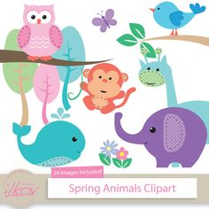 Hey, I found this really awesome Etsy listing at https://www.etsy.com/listing/188299933/spring-baby-animals-clipart-for-digital