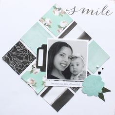 Smile Scrapbook Layut - Live Beautifully Australasian Close to My Heart Blog Hop.