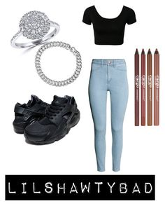 """""""Date """" by lilshawtybad ❤ liked on Polyvore featuring H&M, NIKE, Effy Jewelry, David Yurman and CARGO"""