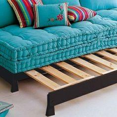 Moroccan furniture blue sofa