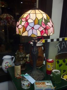 Stained glass table lamp.