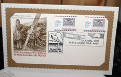 Australian first day cover greeting card. by DragonzWenchEmporium