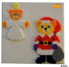 Santa and Angel Hama mini perler pattern