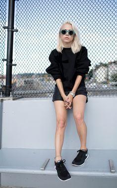 Acne Graphic Printed black sweatshirt always judging