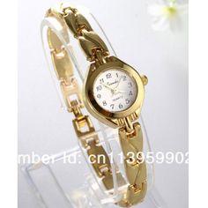 2016 New Fashion Ladies Elegant Bracelet Watch Luxury Full Gold Stainless Steel Quartz Watch Charm Mini Watch Women Dress Watch