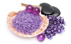 3840x2400 Wallpaper stones, shells, massage, therapy, bath, lavender