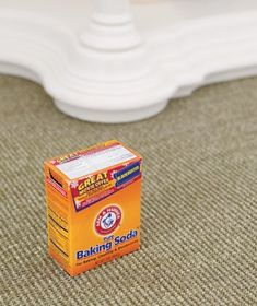 Baking Soda as Carpet Freshener - To absorb stale odors from carpet (and to generally freshen up a room), scatter soda on it, wait a few hours, then vacuum up the powder.